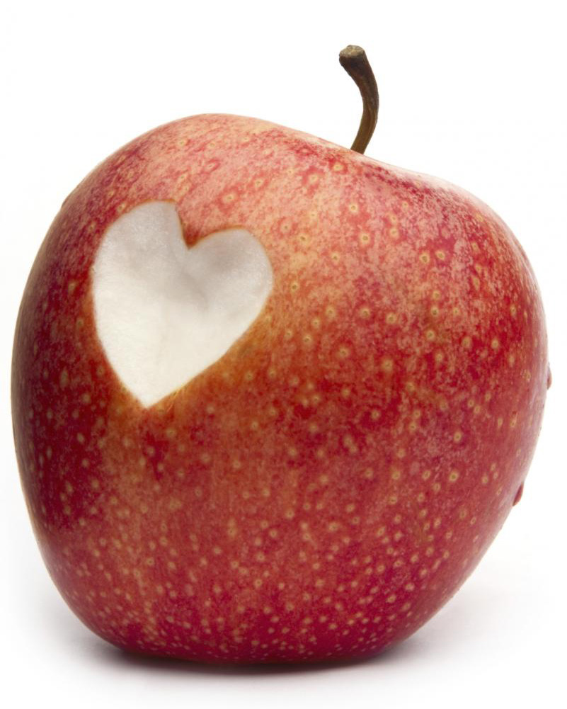 apple with heart